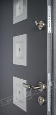 """Двери входные уличные серии """"GRAND HOUSE 56 mm"""" / Модель №2 / цвет: Графит металлик муар"""