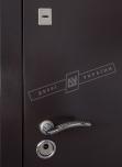 Двері вхідні зовнішні Салют мм 2050*960мм, RAL 8019, праві.