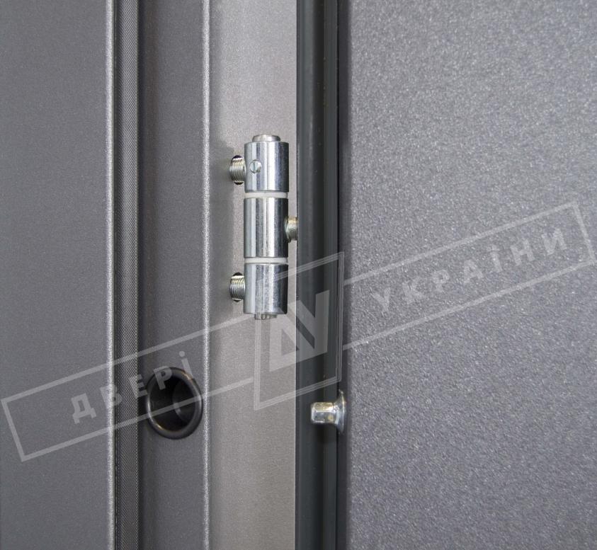 """Двери входные уличные серии """"GRAND HOUSE 56 mm"""" / модель ФЛЕШ / цвет: Графит металлик муар"""
