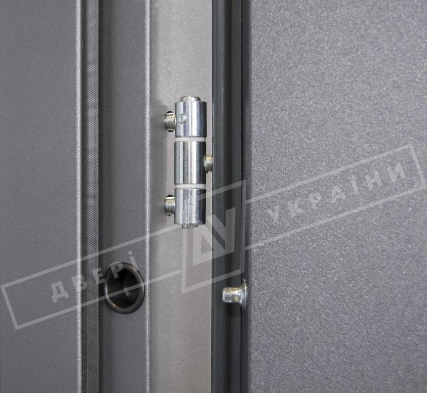 """Двери входные уличные серии """"GRAND HOUSE 56 mm"""" / модель ПРОВАНС 6 / цвет: Графит металлик муар"""