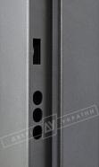 """Двери входные уличные серии """"GRAND HOUSE 56 mm"""" / Модель №4 / цвет: Графит металлик муар"""