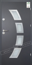"""Двери входные уличные серии """"GRAND HOUSE 56 mm"""" / Модель №5 / цвет: Графит металлик муар"""