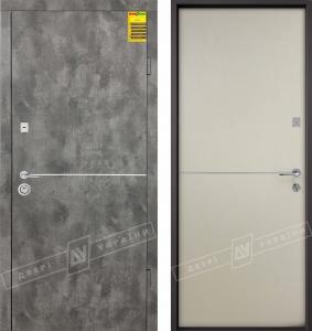 """Двери входные серии """"СИТИ 2"""" / Комплектация №2 [KALE] / МОНАКО / Сланец тёмный MBP 8846-6 / Цемент миндаль MBP 1201R"""