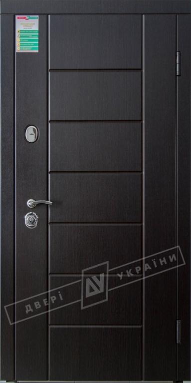 """Двері вхідні внутрішні""""Білоруський стандарт 2/2""""2040*880мм,""""Ніка М""""венге южне МВР1998-10,праві"""
