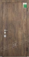 Двери входные серии БС 2 / Комплектация №4 [MOTTURA] / ПАНАКОТА / Спил Дерева коньячный МВР9187-6 / Белый супермат WHITE_02