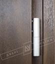 """Двери входные уличные серии """"GRAND HOUSE 73 mm"""" / Модель №4 / цвет: Тёмный орех / Ручка-скоба [2 стороны]"""
