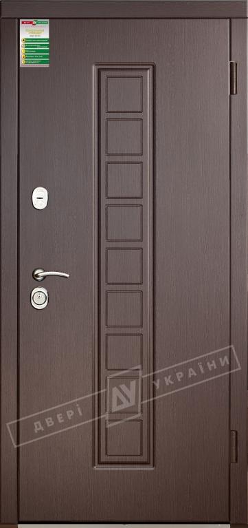 """Двері вхідні внутрішні""""Білоруський стандарт 2/1""""2040*880мм,""""Лаура"""" венге южне МВР1998-10,праві"""
