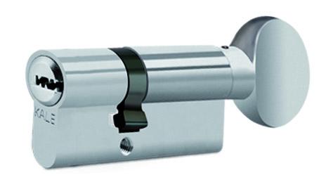 "Цилиндр ""KALE"" ВМ E90 (50*40Т) [ключ/тумблер] [никель]"