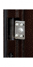 """Двери входные ТМ """"Двери Оптом"""" [ TP-C 36 + ] / МОЛОТКОВОЕ покрытие / для НАРУЖНОГО ПРИМЕНЕНИЯ / 2050*860-960 / утеплённые СОТАМИ + МИНЕРАЛЬНОЙ ВАТОЙ по периметру"""