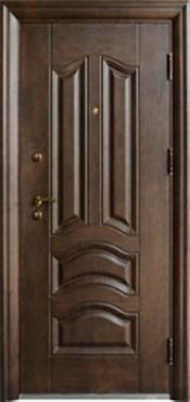 Двері вхідні внутрішніСезон плюс(307+АВ)2050*960мм,структуроване травлення,з утеплювачем,праві.
