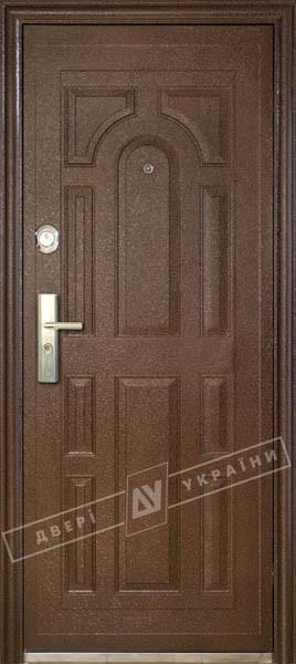 """Двері вхідні зовнішніТМ""""Сезон плюс (117+)""""2050*960мм,З УТЕПЛЮВАЧЕМ,праві,колір мідний антік."""