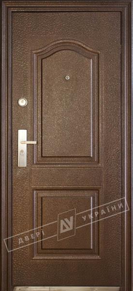 """Двері вхідні зовнішніТМ""""Двері оптом""""(ТР-С36+)2050*960мм,З УТЕПЛЮВАЧЕМ,ліві,колір мідний антік."""