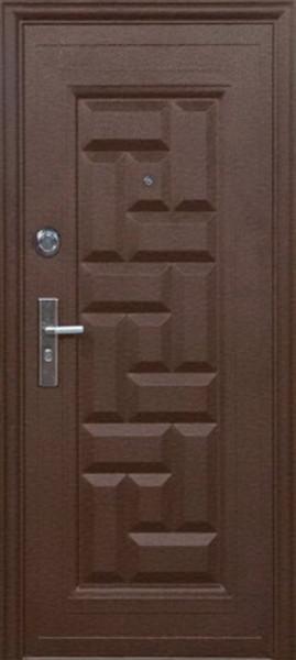 """Двері вхідні зовнішніТМ""""Сезон плюс (103+)""""2050*860мм,З УТЕПЛЮВАЧЕМ,праві,колір мідний антік."""