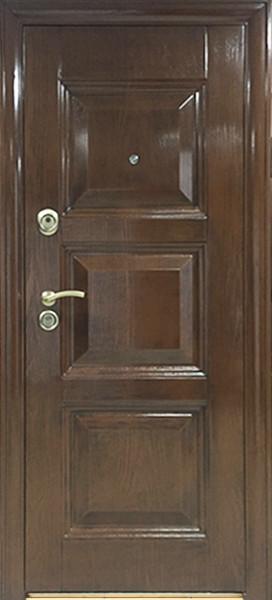 Двері вхідні внутрішніСезон плюс(443+АВ)2050*960мм,структуроване травлення,з утеплювачем,праві.