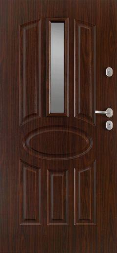 Двері вхідні зовн.Gerda,мод.Барселона-GТТ,р.880*2070мм,із склом,ліві,колір альпійський горіх.