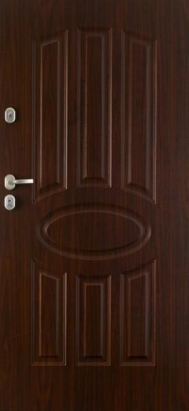 Двері вхідні зовн.Gerda,мод.Барселона-ТТ,розмір980*2070мм,глухі,ліві,колір альпійський горіх.