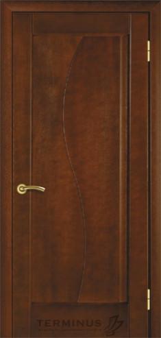 """УЦІНЕНЕ Полотно дверне""""Термінус""""модель 16 ,р.2000*800,глухе,шпоноване,колір каштан."""