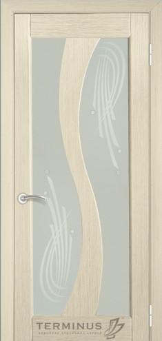 """УЦІНЕНЕ  Полотно дверне""""Термінус""""модель 15,р.2000*600,із склом,шпон білений дуб."""