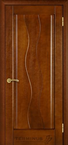 """УЦІНЕНЕ Полотно дверне""""Термінус""""модель 10 ,р.2000*800,глухе,шпоноване,колір каштан."""
