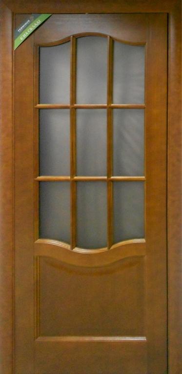 УЦІНЕНЕ Полотно двернеТермінусмодель 07 ,р.2000*600,під скло,шпонноване,колір каштан.