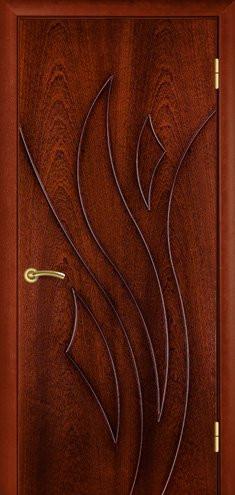 """УЦІНЕНЕ Полотно дверне""""Термінус""""модель """"Лілія"""" ,р.2000*800,глухе,шпоноване,колір сапелі."""
