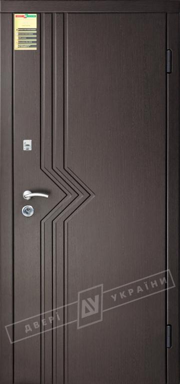 """Двері вхідні внутрішні """"Сіті 1/1"""" 2050*860мм, модель """"Маріам"""" венге южне МВР1998-10, праві."""