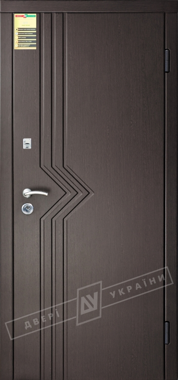 Двері вхідні внутрішні Сіті 11 2050*860мм, модель Маріам венге южне МВР1998-10, праві.