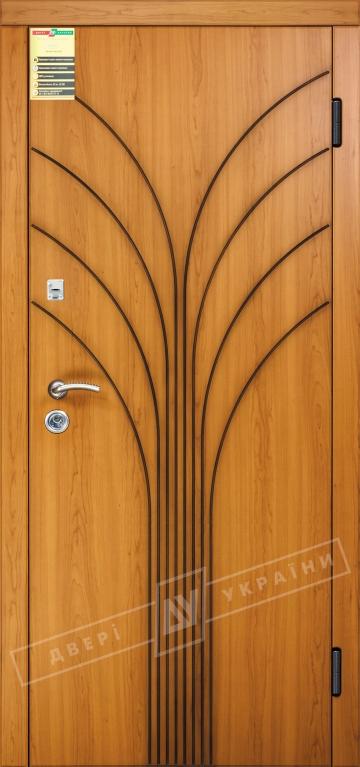 """Двері вхідні внутрішні """"Сіті 1/1"""" 2050*860мм, модель """"Флора"""" вишня сакура світла МВР 2072-4, праві."""