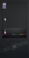 Двери входные серии ИНТЕР / Комплектация №1 [KALE] / ART GLASS 10 / Чёрный софттач RB5013UD-B10-0,35 / Белый супермат WHITE_02