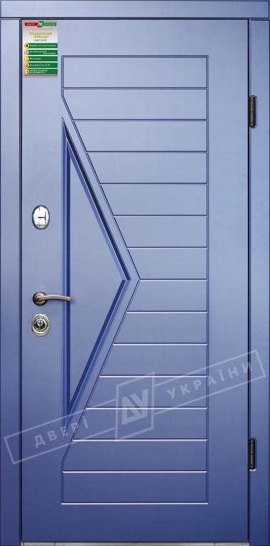 """Двері вхідні внутрішні""""Білоруський стандарт 2/1""""2040*880мм,""""Ассоль"""" сизий перламутр KS008-28.,праві"""
