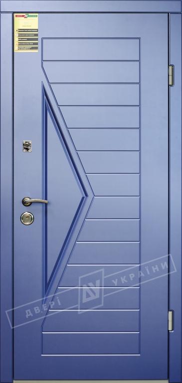 """Двері вхідні внутрішні """"Сіті 1/1"""" 2050*860мм, модель""""Асоль(глуха)""""сизий перламутр KS008-28, праві."""