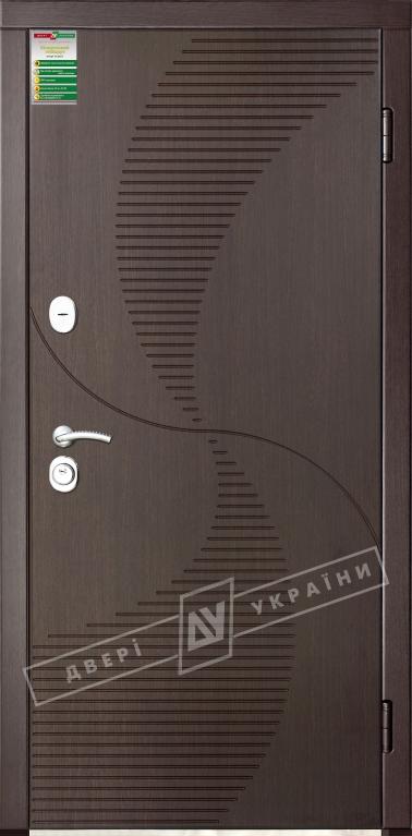 Двері вхідні внутрішніБілоруський стандарт 212040*880мм,Бриз венге южне МВР1998-10,праві