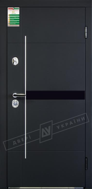 Двери входные серии БС / Комплектация №1 [RICCARDI] / ЭЛИС / Чёрный софттач RB5013UD-B10-0,35