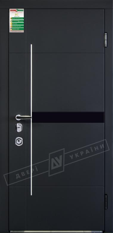 Двери входные серии БС / Комплектация №4 [MOTTURA] / ЭЛИС / Чёрный софттач RB5013UD-B10-0,35