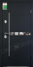 Двери входные серии БС / Комплектация №1 [RICCARDI] / ЭЛИС заркало / Чёрный софттач RB5013UD-B10-0,35