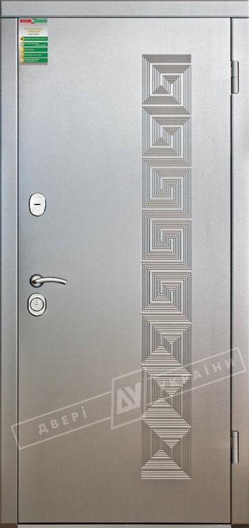 """Двері вхідні внутрішні""""Білоруський стандарт 2/1""""2040*880мм,""""Каприз""""алюміній тиснений 58Т.,праві"""