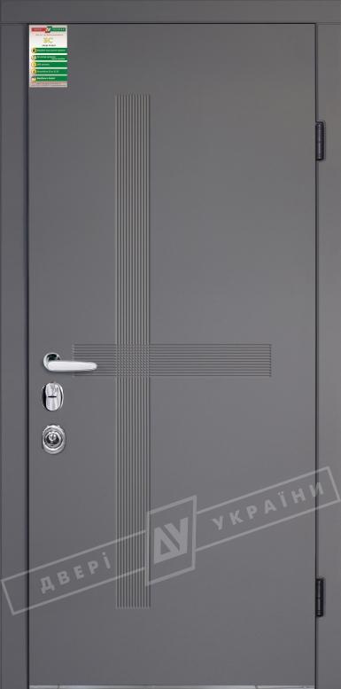 Двери входные серии БС / Комплектация №4 [MOTTURA] / ЛЕКС / Элегантный серый софттач HRB 9377UD B10-0,35