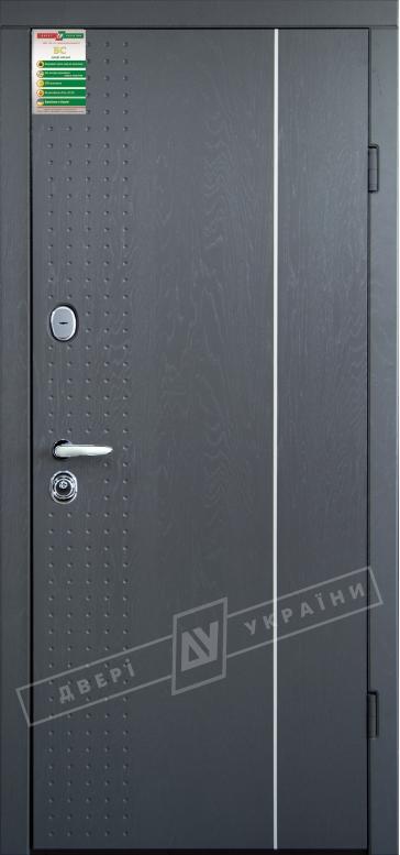 """Двери входные серии """"БС 3"""" модель ЛЕОН 1 / Комплектация №2 KALE / Серая текстура супермат GREY-J3 / Белый супермат WHITE_02"""