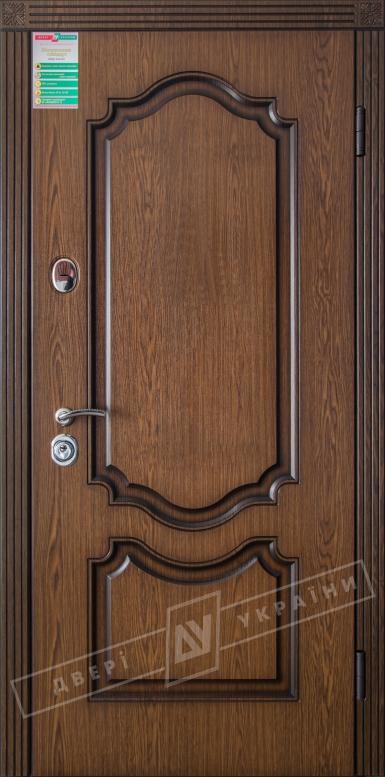 Двери входные серии БС / Комплектация №1 [RICCARDI] / МИЛЕНА / Дуб темный рустикаль ОАК 0501-21 + ПАТИНА