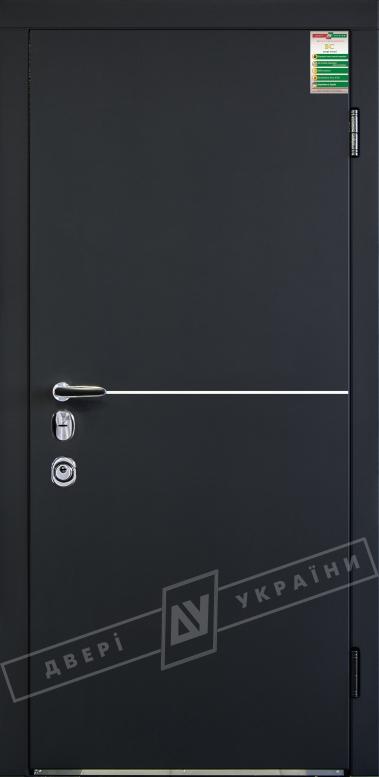 Двери входные серии БС / Комплектация №4 [MOTTURA] / МОНАКО / Чёрный софттач RB5013UD-B10-0,35