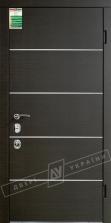 Двери входные серии БС / Комплектация №4 [MOTTURA] / ТУРИН Декор / Венге горизонт тёмное HORI-DARK