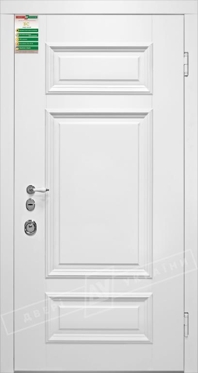 Двери входные серии БС / Комплектация №1 [RICCARDI] / ВЕРСАЛЬ 4 / Белый супермат WHITE_02