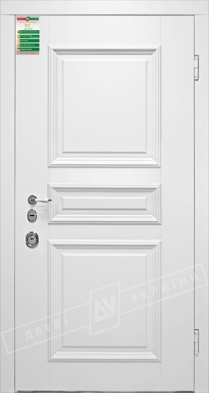 Двери входные серии БС / Комплектация №1 [RICCARDI] / ВЕРСАЛЬ 7 ПВХ / Белый супермат WHITE_02