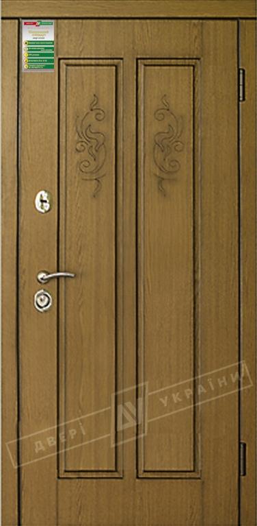 """Двері вхідні внутрішні""""Білоруський стандарт 2/1"""" 2040*880мм,модель Діва-01 НП,праві"""