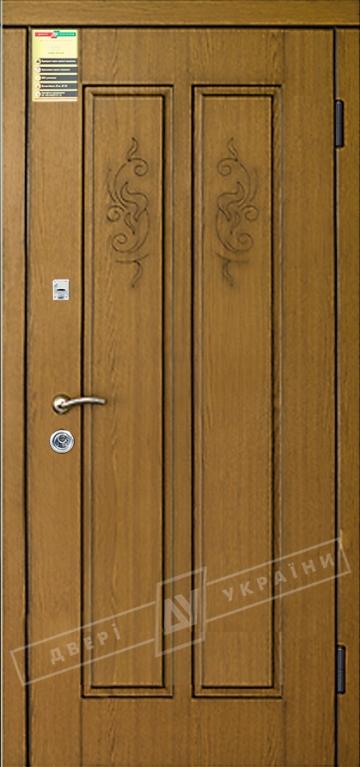 """Двері вхідні внутрішні """"Сіті 1/1"""" 2050*860мм, модель """"Діва"""" дуб натуральний МВР13Т, праві."""