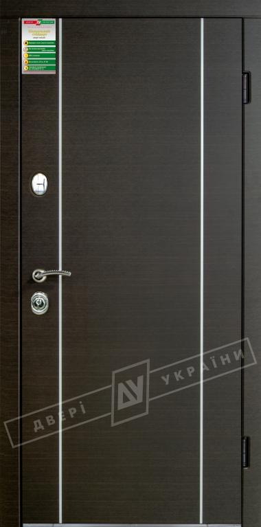 """Двері вхідні внутрішні""""Білоруський стандарт 2/1""""2040*880мм,""""Мілан"""" венге горизонт темне.Терм,праві"""