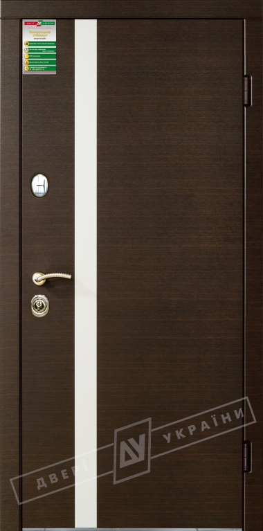 Двері вхідні внутрішніБілоруський стандарт212040*880мм,Палермо венге горизонт темне.Терм,праві