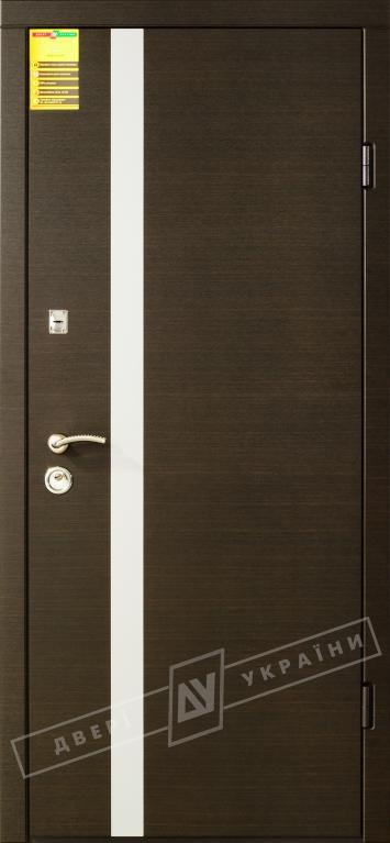 """Двері вхідні внутрішні """"Сіті 1/1""""2050*860мм,""""Палермо"""" венге горизонт темне,праві"""