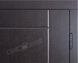 """Двері вхідні внутрішні""""Білоруський стандарт 2/1""""2040*880мм,""""Аккорд"""" венге горизонт темне.Терм,праві"""