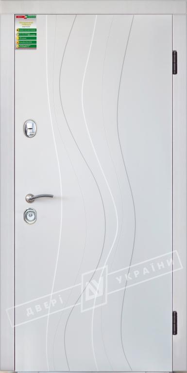 """Двері вхідні внутрішні""""Білоруський стандарт 2/1""""2040*880мм,""""Стиль"""" венге сірий горизонт 288Т,праві"""